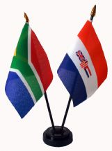 SOUTH AFRICA (NEW) / SOUTH AFRICA (OLD) - Table Flag Set